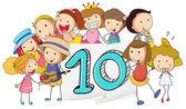 Nummer 10 — Stockvektor