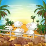 Sheep and farm — Stock Vector #56876561