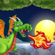 Dragon and knight — Stock Vector #56974127