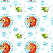Seamless fish — Stock Vector