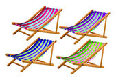Beach chairs — Vector de stock
