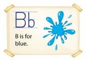 Alphabet B — Stock Vector