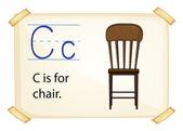 Alphabet C — Stock Vector
