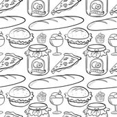 Seamless food — Stock Vector
