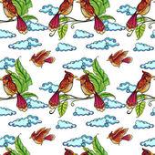 Seamless birds — Stock Vector