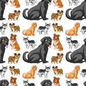 Seamless dog — Stock Vector