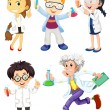 Scientists and doctors — Stock Vector #57427345
