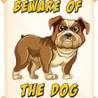 Beware of dog — Stock Vector #57427373