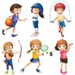 Kids playing sport — Stock Vector #57427501