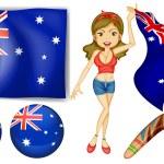 Australian theme — Stock Vector #57427531