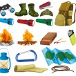 Camping set — Stock Vector #57427619