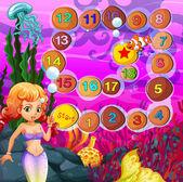 Mermaid game — Stock Vector