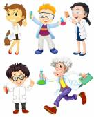 Scientists and doctors — Stock Vector