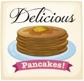 Pancakes poster — Stock Vector