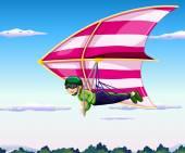 Hang-glider — Stock Vector