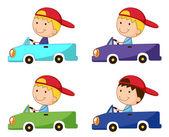 Box car kid — Stock Vector