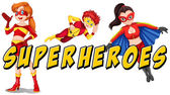 Superheroes — Stock Vector