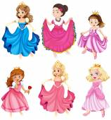 Princesses and queens — Stock Vector