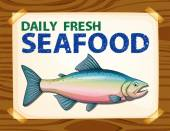 Daily fresh seafood — Stock Vector