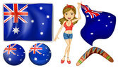 Australian theme — Stock Vector