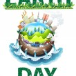 Earth day theme — Vector de stock  #58547143