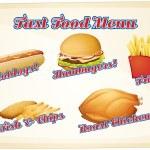 Fast food menu — Stock Vector #58547179