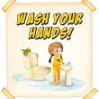wash hand — Stockvector  #58547373