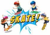 Skate logo — Vettoriale Stock