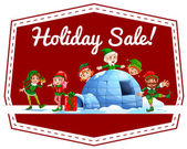 Holiday sale label — Stock Vector