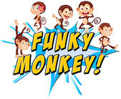 Funky monkeys — Stock Vector