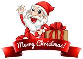 Santa etikett — Stockvektor