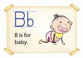 A letter B for baby — Stock Vector