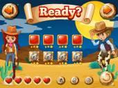 Cowboy game — Stock Vector