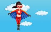 A superhero — Stock Vector