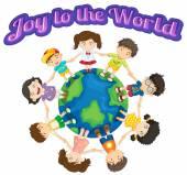 Joy to the world — Stock Vector