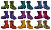 Boots set — Stock Vector