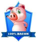 Bacon label — Stock Vector
