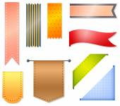 Ribbons and labels — Stock Vector