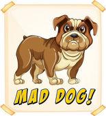 Vzteklý pes — Stock vektor