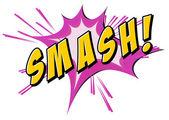 Smash flash on white — Stock Vector