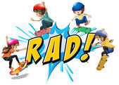 Rad kids — Stock Vector