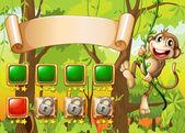 Monkey game design — Stock Vector