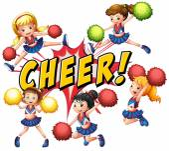 Cheerleaders — Stock Vector