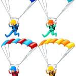 Parachute — Stock Vector #59002561
