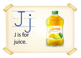 A letter J for juice — Stock Vector