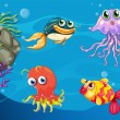 Under water creatures — Stock Vector #59250861