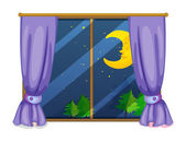 Night view — Stock Vector