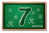 Number 7 — Stock Vector