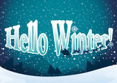 A winter template — Stock Vector