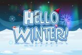 A winter design for christmas — Stock Vector